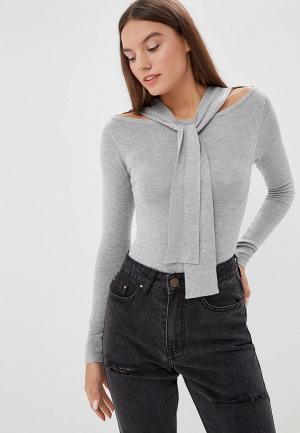 Джемпер Lost Ink TIE NECK SPLIT JUMPER. Цвет: серый