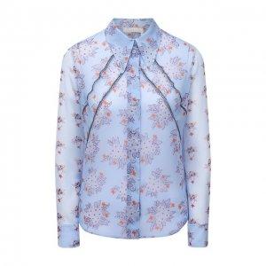 Шелковая блузка Chloé. Цвет: голубой
