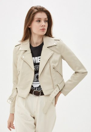 Куртка кожаная Befree. Цвет: бежевый