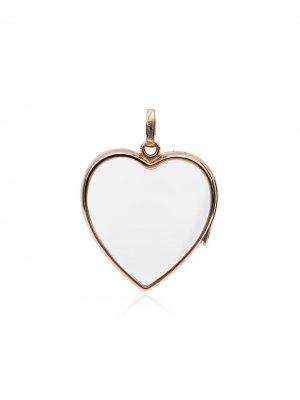 Большой кулон из розового золота в форме сердца Loquet. Цвет: розовый