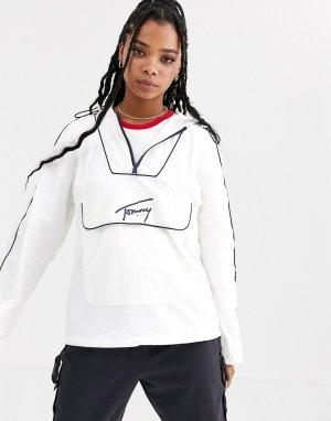 Ветровка с контрастной окантовкой -Белый Tommy Jeans