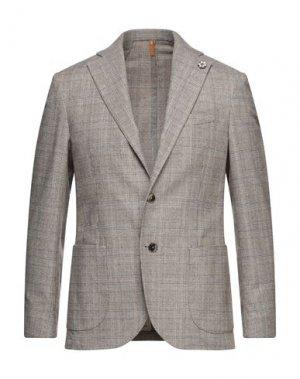 Пиджак GABARDINE. Цвет: коричневый