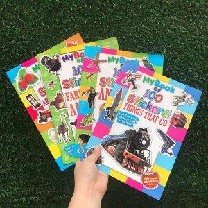 1шт Случайная книга для раннего образования с наклейкой SHEIN. Цвет: многоцветный