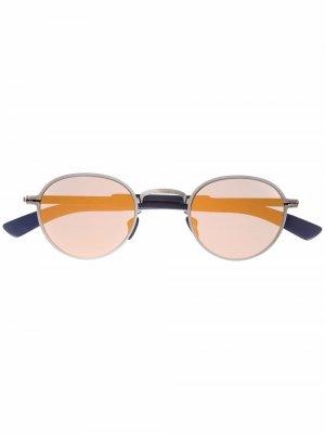 Солнцезащитные очки Quince в круглой оправе Mykita. Цвет: серебристый