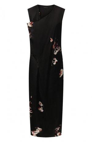 Платье-миди Y`s. Цвет: чёрный
