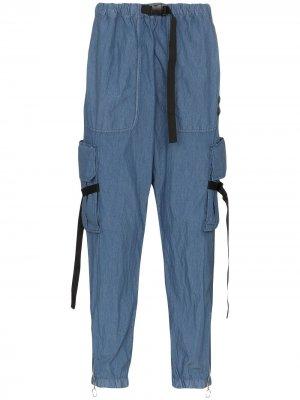 Брюки карго с карманами Off-White. Цвет: синий