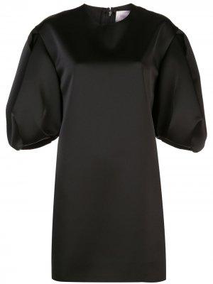 Платье-трапеция с пышными рукавами Carolina Herrera. Цвет: черный