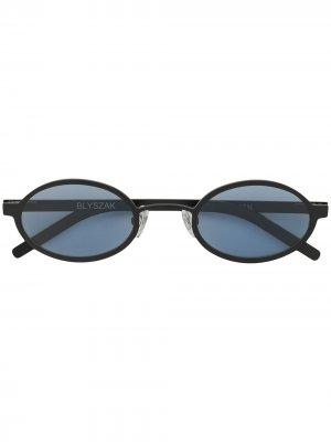 Солнцезащитные очки Signature II из коллаборации с Blyszak Off Duty. Цвет: черный