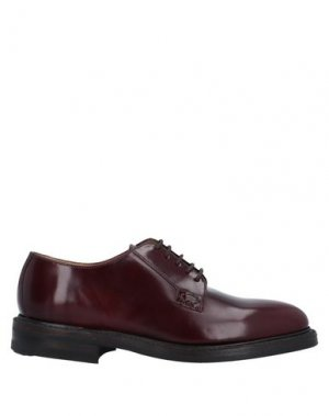 Обувь на шнурках LOAKE. Цвет: баклажанный