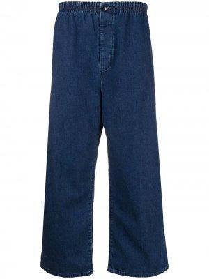 Levis Vintage Clothing укороченные широкие джинсы Levi's. Цвет: синий