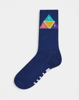 Темно-синие носки с принтом в форме призмы -Темно-синий HUF