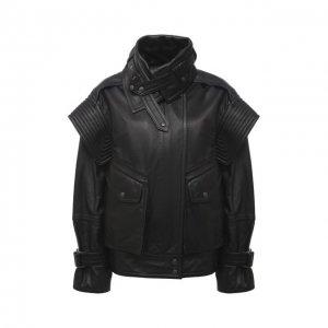 Кожаная куртка Kenzo. Цвет: чёрный