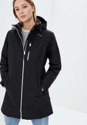 Куртка утепленная Helly Hansen W LONG BELFAST WINTER JACKET. Цвет: черный