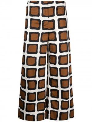S Max Mara расклешенные брюки в клетку 'S. Цвет: нейтральные цвета