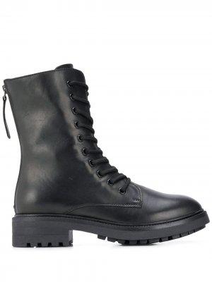 Ботинки на молнии со шнуровкой P.A.R.O.S.H.. Цвет: черный