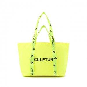 Сумка-шопер Sculpture small Off-White. Цвет: жёлтый