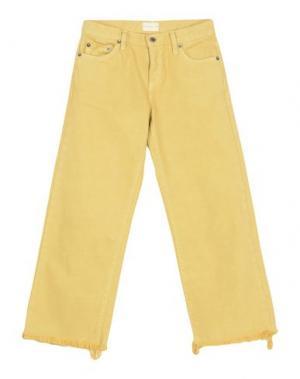Джинсовые брюки-капри SIMON MILLER. Цвет: желтый