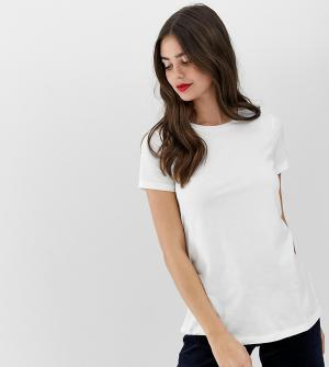 Белая футболка с круглым вырезом ASOS DESIGN Tall ultimate. Цвет: белый