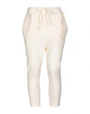 Повседневные брюки HOTEL PARTICULIER. Цвет: слоновая кость