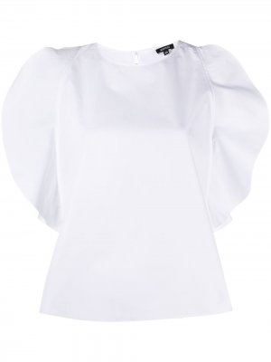 Блузка с разрезами на рукавах Aspesi. Цвет: белый