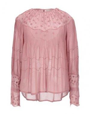 Блузка ULLA JOHNSON. Цвет: пастельно-розовый
