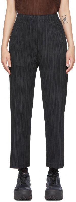 Black Thicker Bottom 1 Wide-Leg Trousers Pleats Please Issey Miyake. Цвет: 15 black