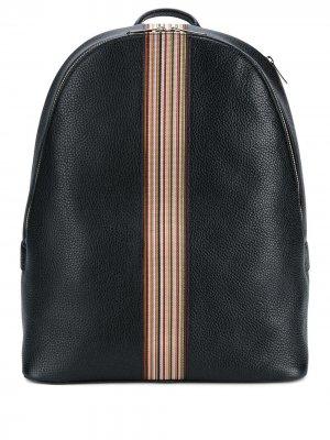 Классический рюкзак в полоску Paul Smith. Цвет: черный