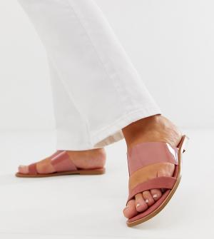 Сандалии для широкой стопы с прозрачным ремешком Flirt ASOS DESIGN