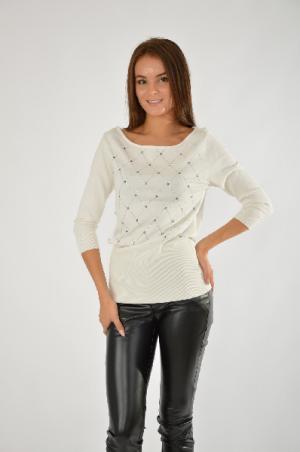 Пуловер MELROSE. Цвет: белый
