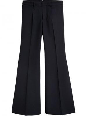 Классические саржевые брюки Burberry. Цвет: синий
