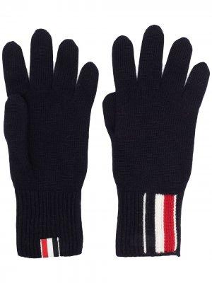 Перчатки с полосками Thom Browne. Цвет: синий