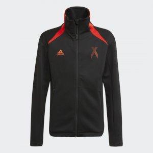 Олимпийка AEROREADY X Football-Inspired Performance adidas. Цвет: красный
