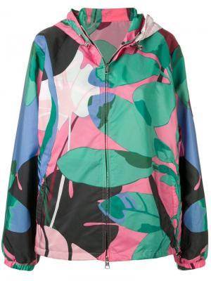 Куртка-бомбер с принтом Moncler. Цвет: зеленый