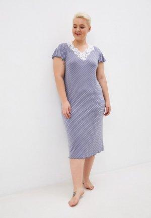 Сорочка ночная El Fa Mei. Цвет: серый