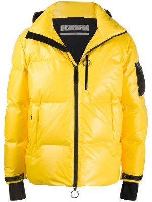 Ski puffer jacket Off-White. Цвет: желтый