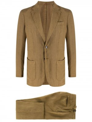 Delloglio костюм-двойка с однобортным пиджаком Dell'oglio. Цвет: коричневый