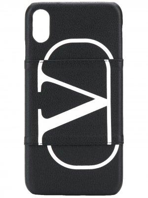 Чехол для iPhone XS Max Valentino Garavani. Цвет: черный