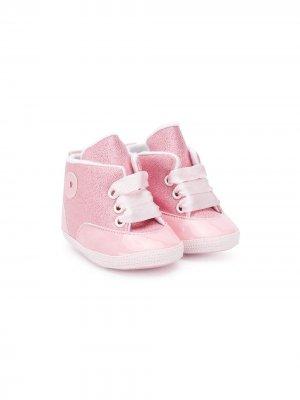 Кроссовки на шнуровке с логотипом Aletta. Цвет: розовый