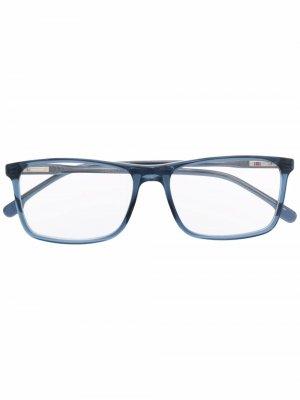 Солнцезащитные очки в квадратной оправе с логотипом Carrera. Цвет: синий