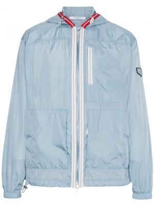 Ветровка с капюшоном Givenchy. Цвет: синий