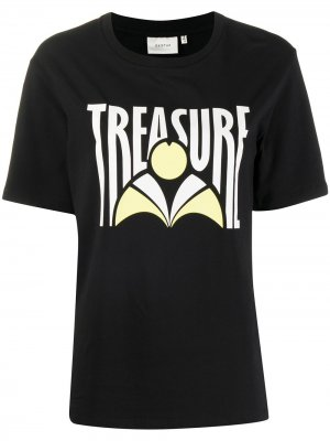 Футболка Treasure свободного кроя Gestuz. Цвет: черный