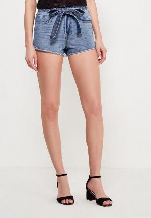 Шорты джинсовые Lost Ink Petite TIE WAIST MOM SHORT. Цвет: синий