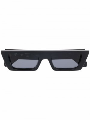 Солнцезащитные очки Marfa в прямоугольной оправе Off-White. Цвет: черный