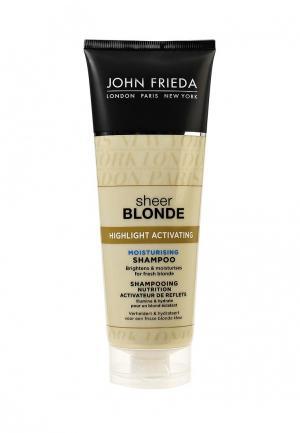 Шампунь John Frieda Sheer Blonde Увлажняющий активирующий для светлых волос, 250 мл. Цвет: прозрачный