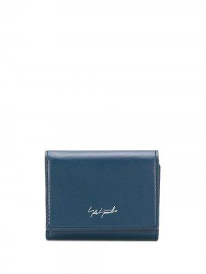 Компактный кошелек с логотипом Discord Yohji Yamamoto. Цвет: синий