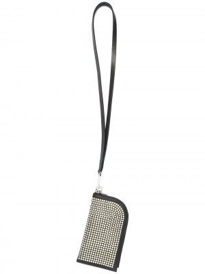 Декорированный кошелек с ремешком на шею Rick Owens. Цвет: черный