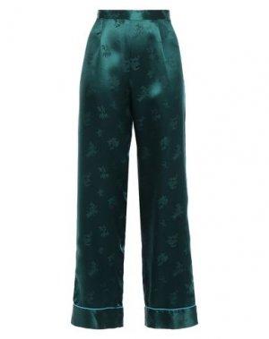 Повседневные брюки ANNA SUI. Цвет: темно-зеленый