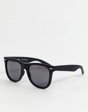 Черные солнцезащитные очки AJ Morgan. Цвет: черный