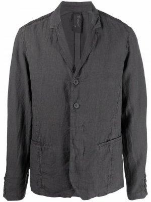 Пиджак с заостренным воротником Transit. Цвет: серый