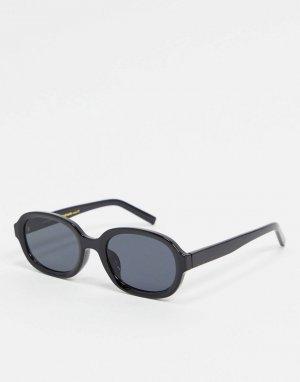 Черные круглые солнцезащитные очки -Черный A.Kjaerbede